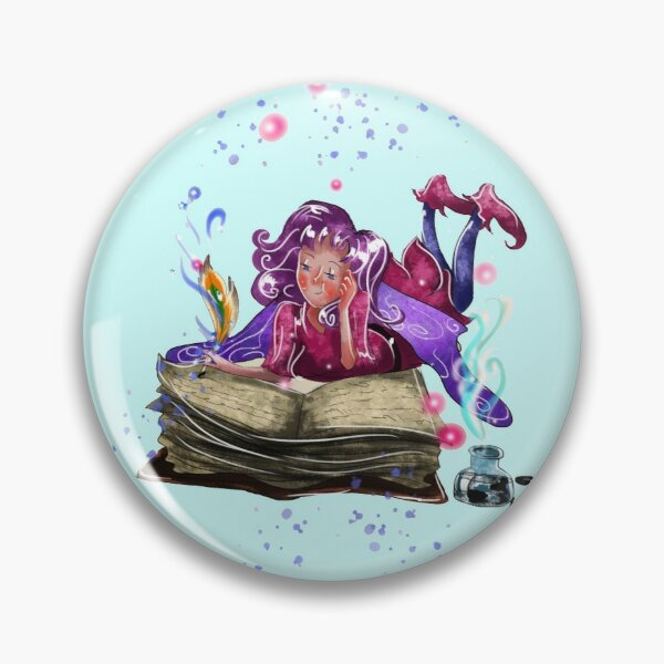 Airapippen The Author Fairy In Turquoise™ Pin