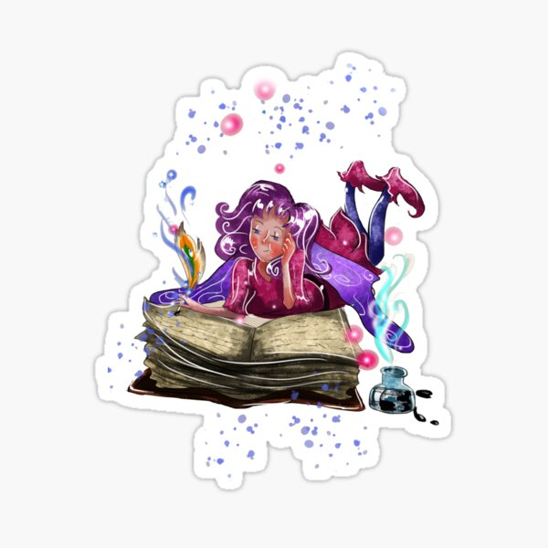 Airapippen The Author Fairy In Turquoise™ Sticker