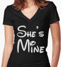 She's Mine Women's Fitted V-Neck T-Shirt