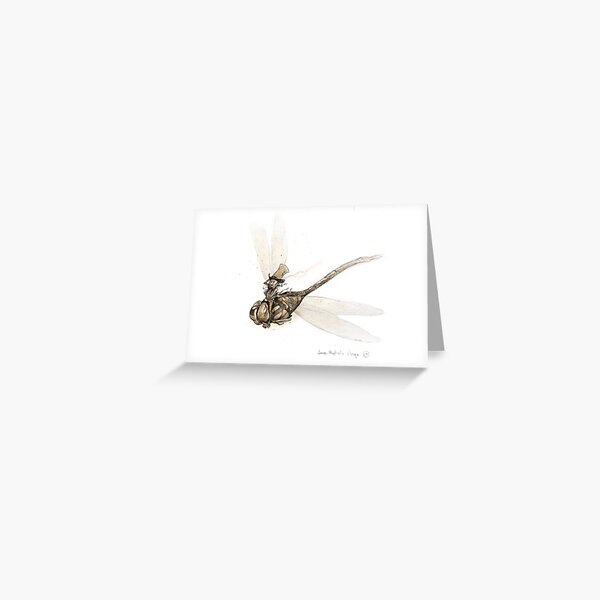 The Dragonfly Rider Greeting Card