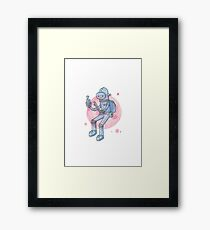 Blue Space Man Framed Print