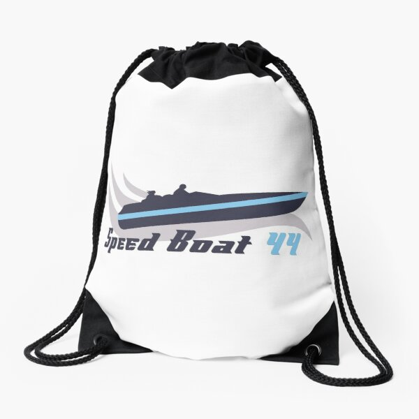 Speedboat Drawstring Bag