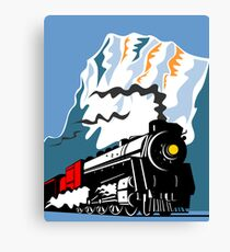 Vintage Steam Train Locomotive Retro Canvas Print