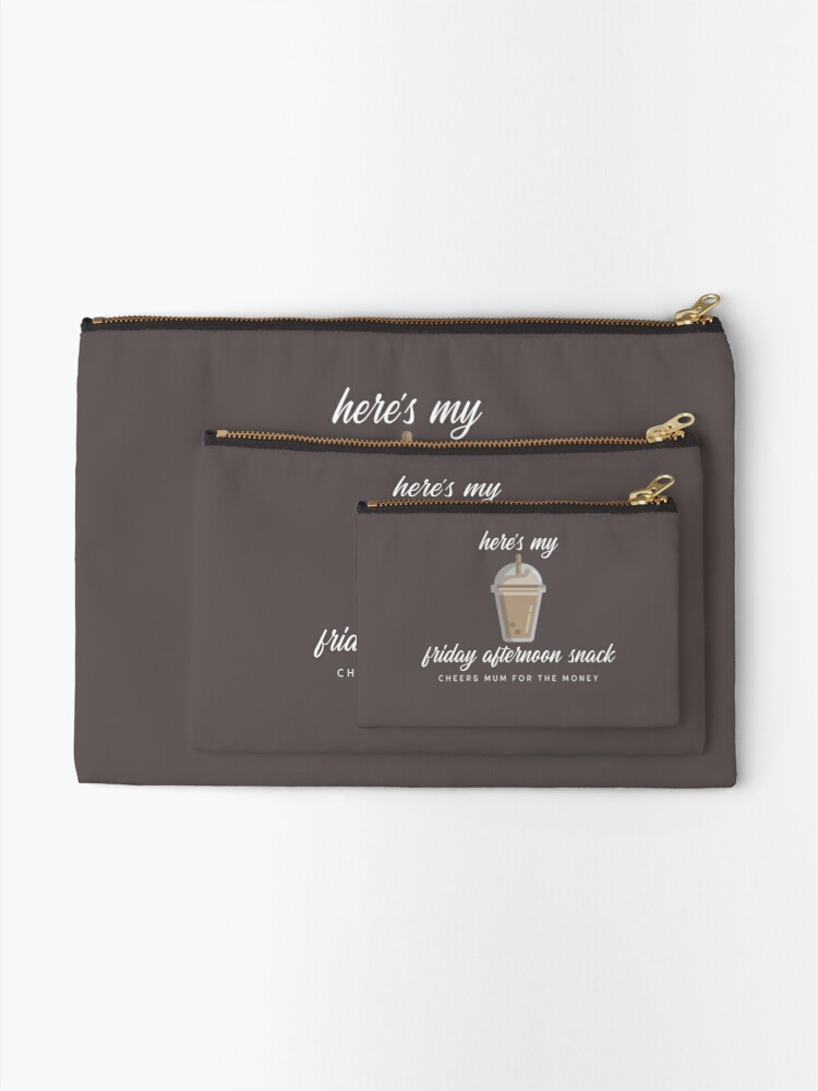 Alternate view of Cheers Mum For The Money - Iced Coffee Zipper Pouch
