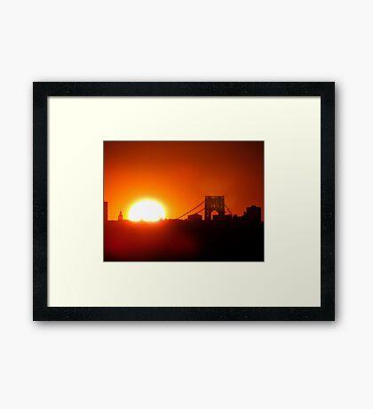 New York City Sunset Framed Print