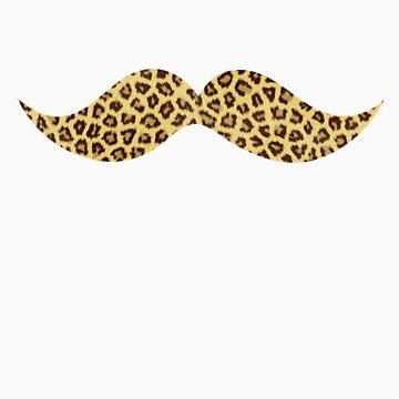 Mustache - Leopard Print by Slushylq