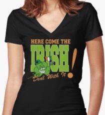 Irish Women's Fitted V-Neck T-Shirt