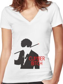 Cumberbitch Women's Fitted V-Neck T-Shirt