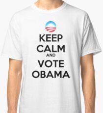 Keep Calm and Vote Obama (logo) Classic T-Shirt