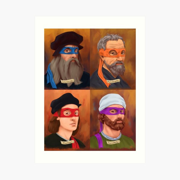 The Renaissance Ninja Artists Art Print
