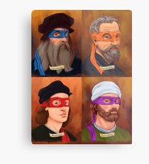 The Renaissance Ninja Artists Metal Print