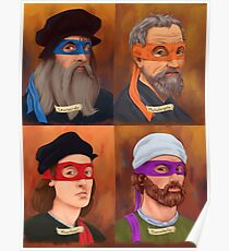 The Renaissance Ninja Artists Poster