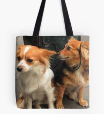 Two Cute Dogs Tote Bag