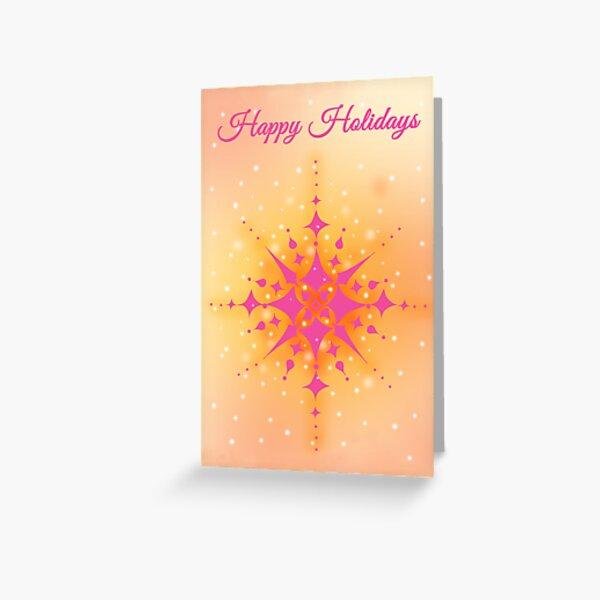 Happy Holidays Snowflake Greeting Card