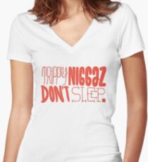 Trippy Nig Women's Fitted V-Neck T-Shirt