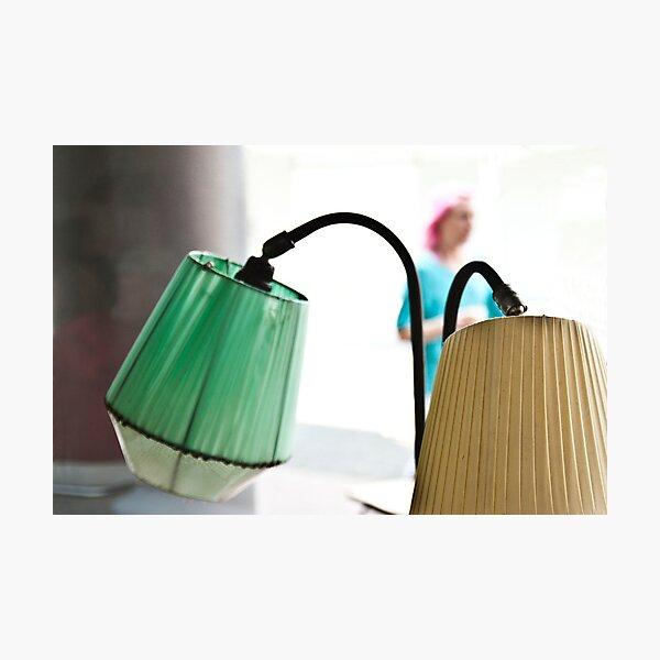 Vintage lamps at Nannas Photographic Print