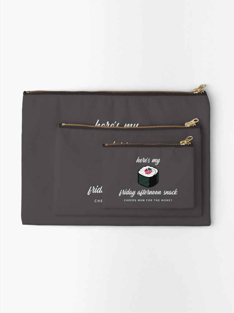 Alternate view of Cheers Mum For The Money - Sushi Zipper Pouch