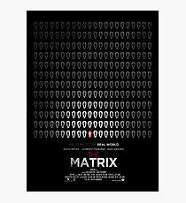 Minimalist Poster : Matrix Photographic Print