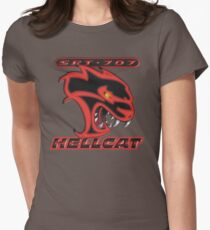 Hellcat - Red & Black Women's Fitted T-Shirt