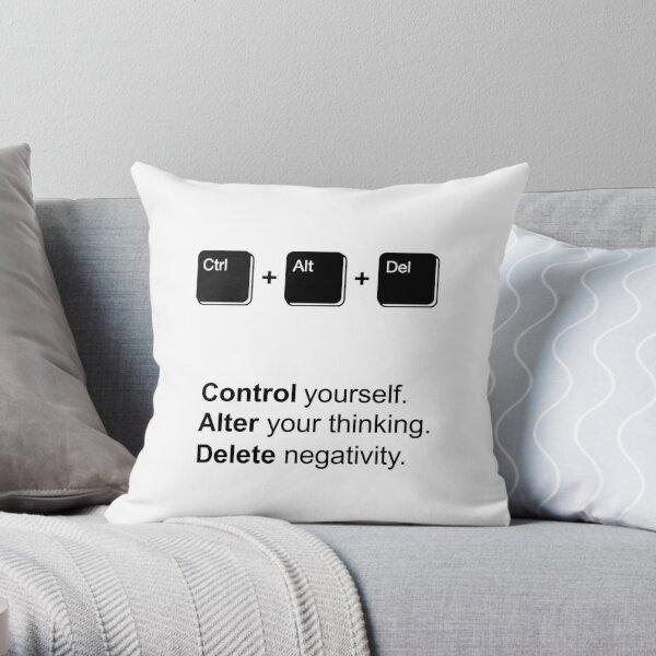 Ctr Alt Del Throw Pillow