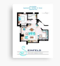 Seinfeld Apartment v2 Canvas Print