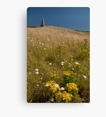 St Enodoc Church and Daymer Bay grasses Canvas Print