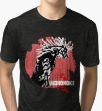 Princess Mononoke - Godzilla version  Tri-blend T-Shirt