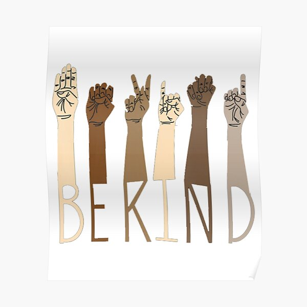 Be Kind Sign Language Hand Talking Teachers Interpreter ASL Poster