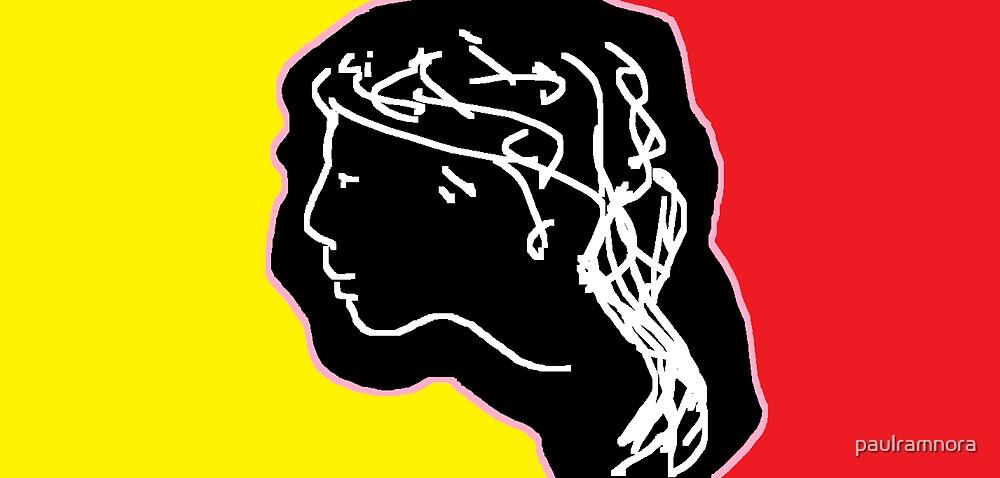 female head -(171012)- digital artwork/ms paint by paulramnora