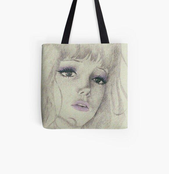 belladonna sad girl 2 All Over Print Tote Bag
