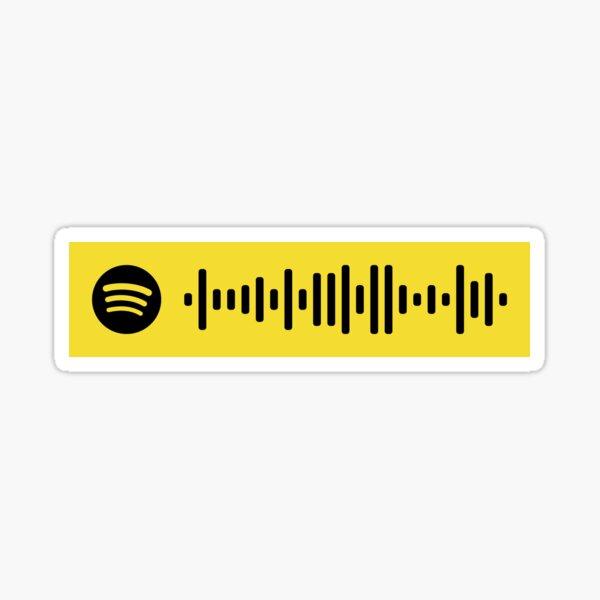 Beerbongs & Bentleys Spotify Scan Code Sticker