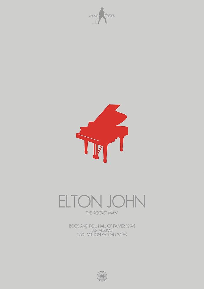 ELTON JOHN - The 'Rocket Man' by Mark Hyland
