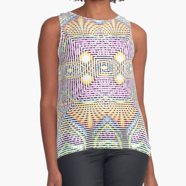 Longboard, Psychedelic art Sleeveless Top