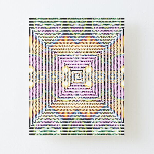 Longboard, Psychedelic art Canvas Mounted Print