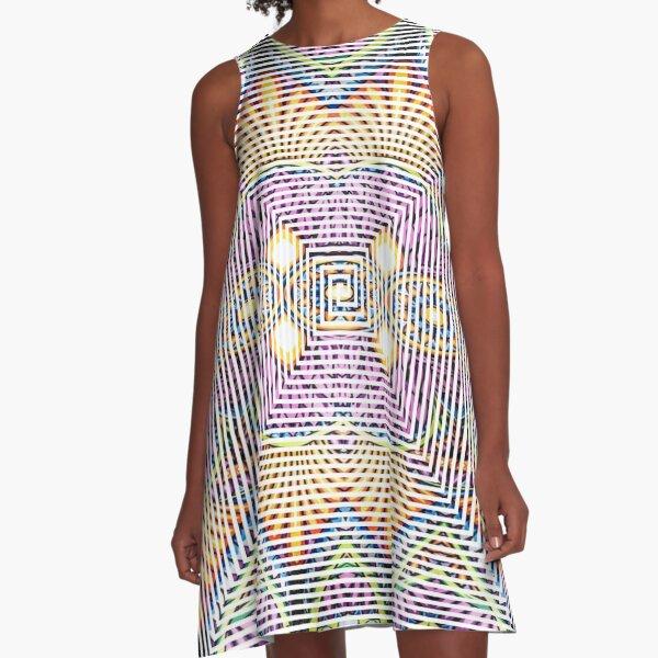 Longboard, Psychedelic art A-Line Dress
