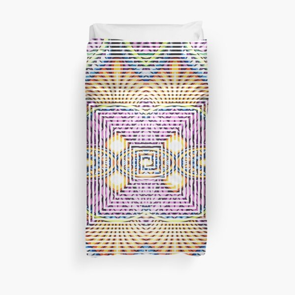 Longboard, Psychedelic art Duvet Cover