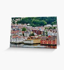 Buildings on Stilts, Bergen, Norway Greeting Card