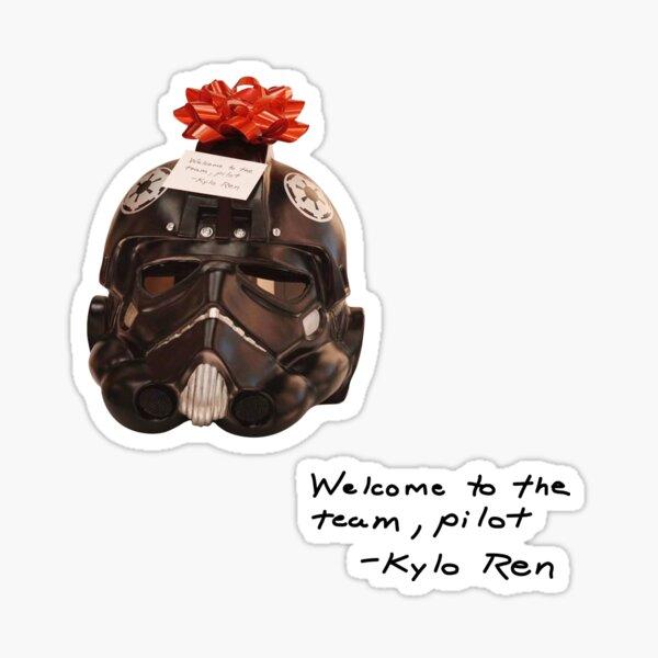welcome to the team, pilot - ren (snl) Sticker