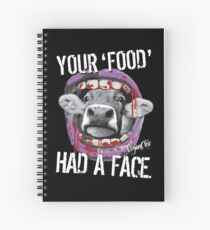 VeganChic ~ Your Food Had A Face Spiral Notebook