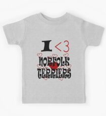 I <3 Norfolk Terriers Kids Clothes