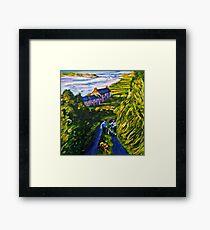 """Road Scene, near Rossport, County Mayo."" Framed Print"