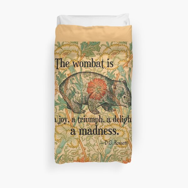 Ode to a Wombat Duvet Cover