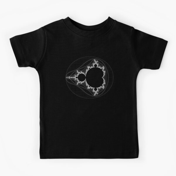 White - Linear Mandelbrot Kids T-Shirt