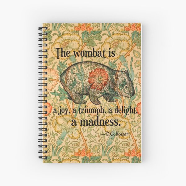 Ode to a Wombat Spiral Notebook