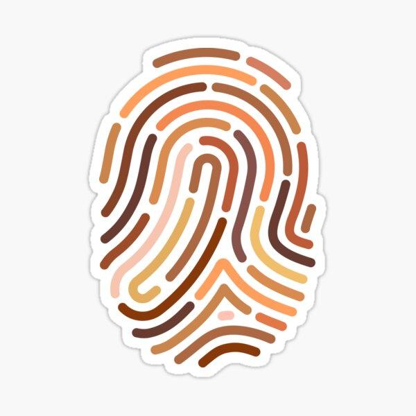 Fingerprint for one human race. Anti-racism Illustration Sticker