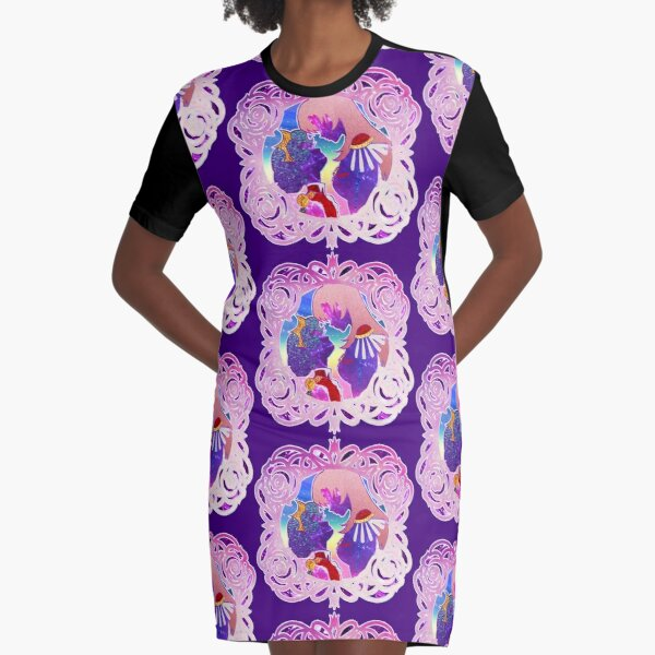 Stardust and Glitter Anthy and Utena Graphic T-Shirt Dress