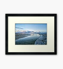 Curved Water Framed Print
