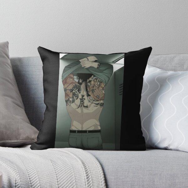 Tora's Tattoos Throw Pillow