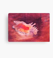 Conch shell, watercolor Canvas Print