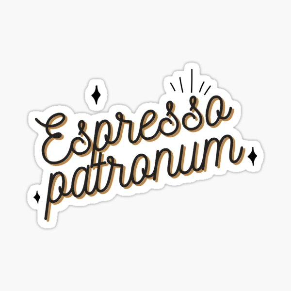 Funny gifts for coffee lovers Magic cute Espresso Patronum Sticker